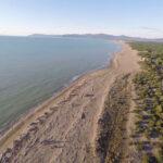 Un Drone riprende la spiaggia di Principina a Mare