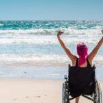Persone portatrici di handicap in spiaggia