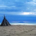 Spiaggia dei capanni a Principina a Mare
